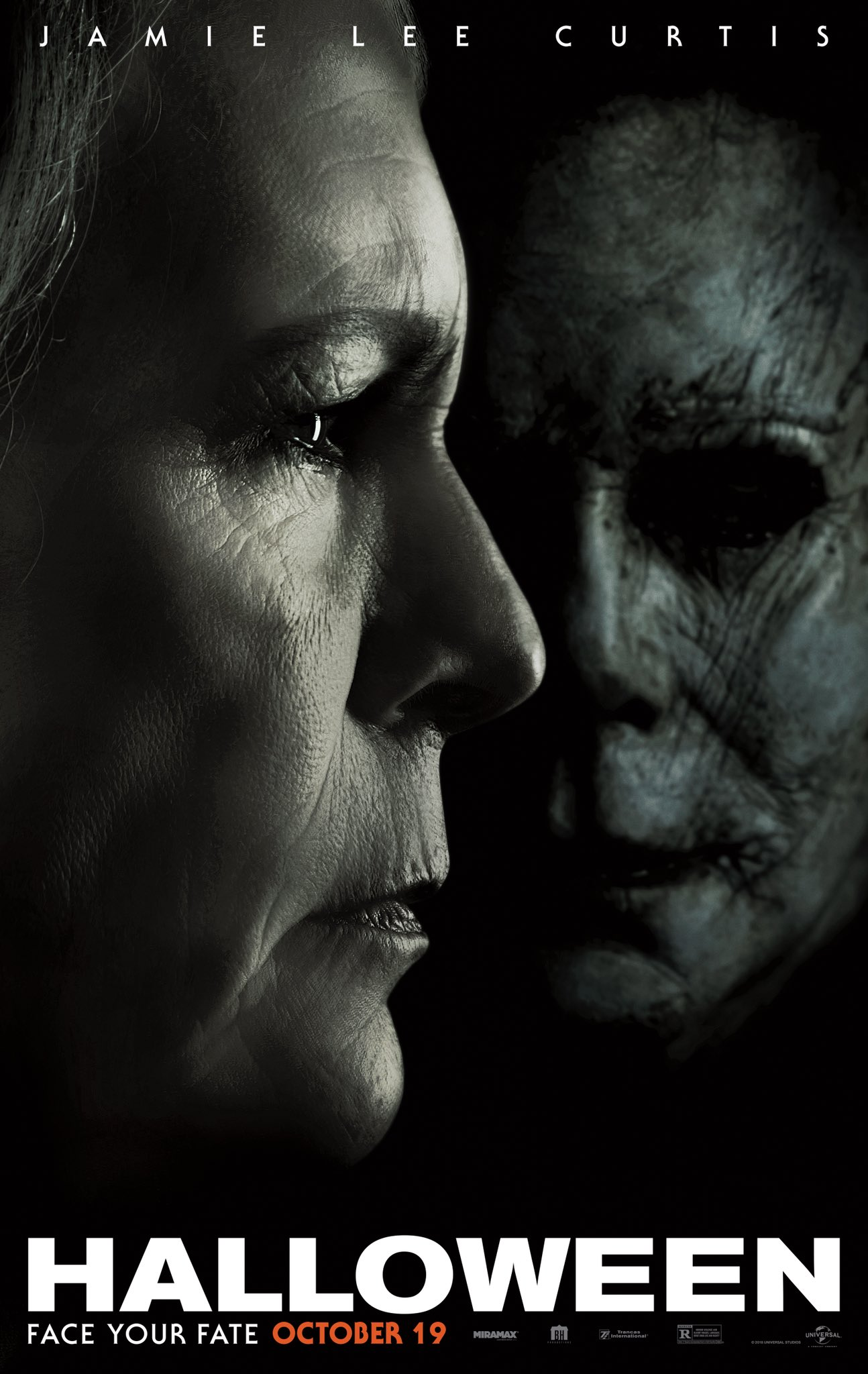 jamie lee curtis teases 'halloween' trailer w/ new poster